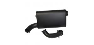 Глушитель для Polaris RZR 900 (15+) BMP Ceramic Black, Singel Barrel Slip-Ons