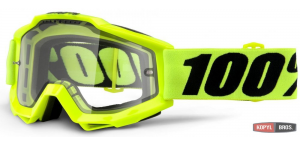 Мото очки 100% ACCURI ENDURO Goggle Fluo Yellow - Clear Dual Lens