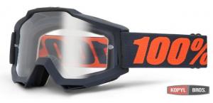 Мото очки 100% ACCURI ENDURO Goggle Gunmetal - Clear Dual Lens
