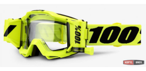 Мото очки 100% ACCURI FORECAST Goggle Fluo Yellow - Clear Lens 2