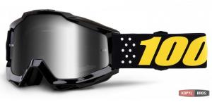 Детские мото очки 100% ACCURI Youth Goggle Pistol - Mirror Silver Lens