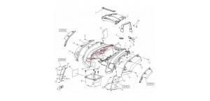 Оригинальный расширитель арки задний левый для квадроцикла CFMoto X5 9050-040018